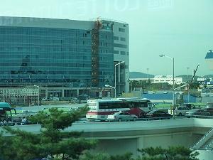 韓国の道路は大渋滞していました