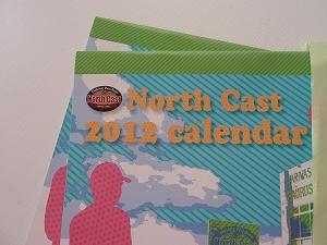 北海道札幌市内のプロショップ・ノースキャストさんの2012年カレンダー