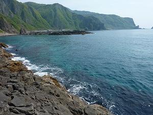 テレビロケを行なった積丹半島の沼前岬。