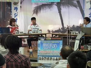 店内トークショー&FMラジオ公開生放送風景