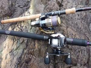 磯ではロングベイトロッドとロングスピニングの2本持参出来れば、釣りの幅がさらに広がる。