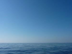 真冬の海とは思えない、快晴・無風・ベタナギでした。気持ちがいい!!