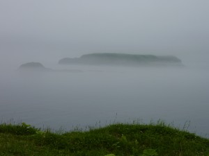 厚岸湾に浮かぶ大黒島