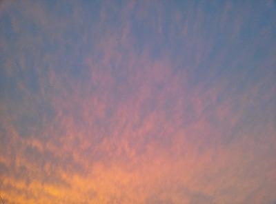 秋。夕焼けもきれいです。